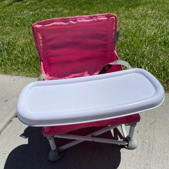 Summer Infant Pink Baby Camping Chair with Tray